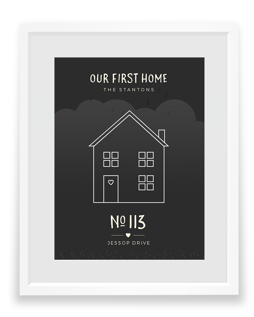 Personalised house portrait by No Ordinary Emporium