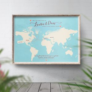 Travel Map Personalised